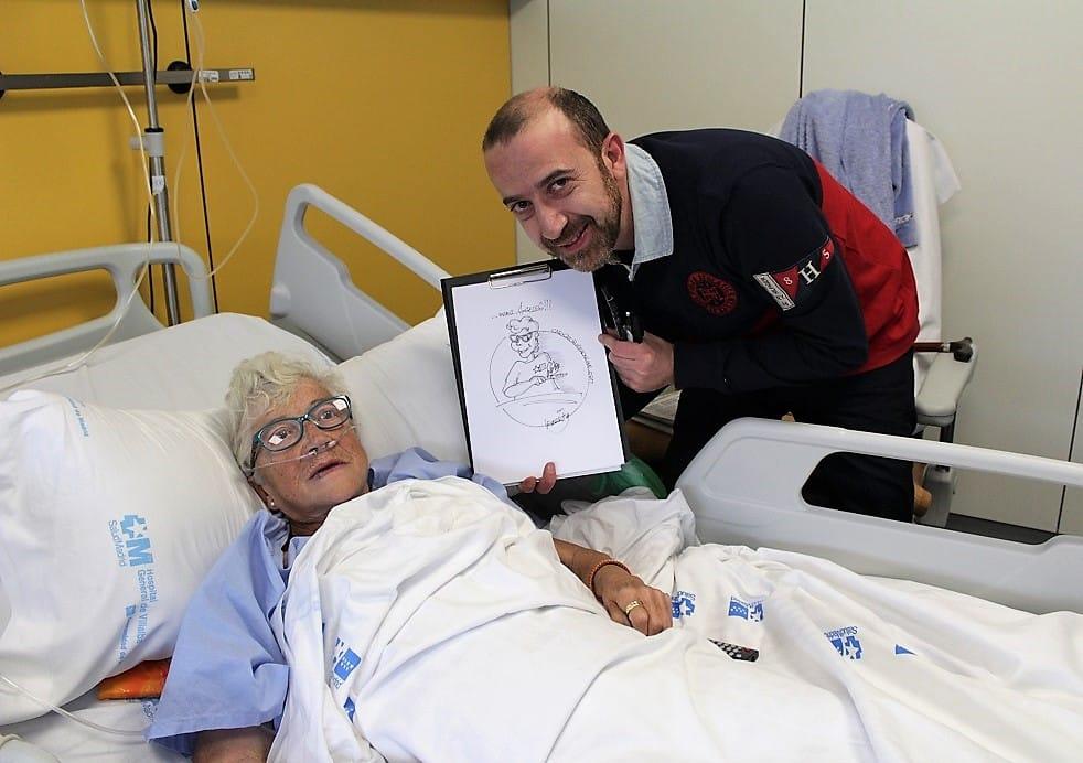 CaricaturistaOnline en el Hospital Villalba