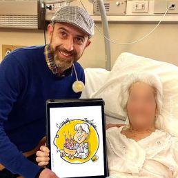 caricaturas para los pacientes del hospital